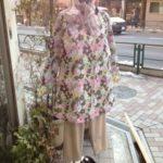 春一番 花柄スプリングコート ジャケット