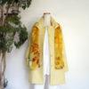 春の花ジャガード織ロングジャケット