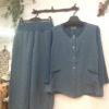 麻のセットアップ 上着はジャケット、ベスト 組み合わせ自由